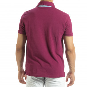 Polo shirt roșu pentru bărbați 2