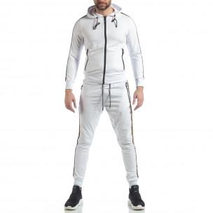 Set sportiv alb 5 striped pentru bărbați 2