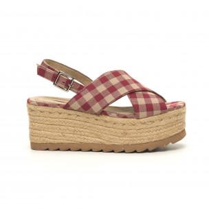 Sandale de dama Rustic style cu platformă