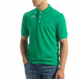 Polo shirt verde de bărbați Kappa regular fit