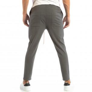 Pantaloni tip Jogger ușori în gri închis pentru bărbați  2