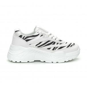 Pantofi sport de dama motiv zebră