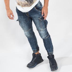 Washed Cargo Jogger albastru pentru bărbați Always Jeans