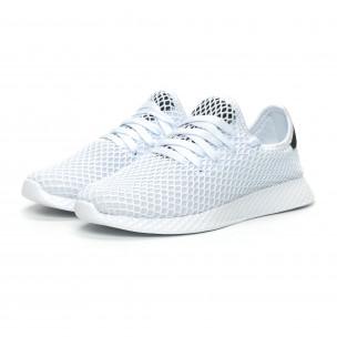 Pantofi sport albi ultra ușori Mesh pentru dama 2