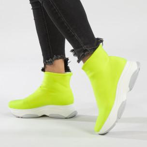 Pantofi sport Slip-on neon pentru dama