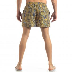 Costum de baie galben pentru bărbați Savanna design  2