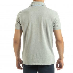 Polo shirt gri pentru bărbați Gianfranco Buroni 2