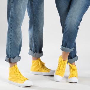 Teniși galbeni înalți pentru cupluri