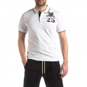Tricou bărbați Super New Polo alb