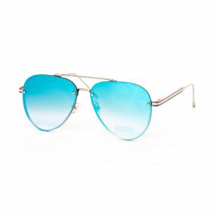 Ochelari de soare Aviator cu lențile albastre tip oglindă See vision