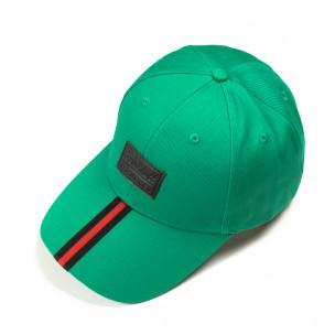 Șapcă verde cu bandă roșie