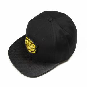 Șapcă neagră cu imprimeu galben