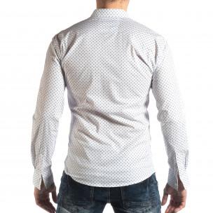 Cămașă cu mânecă lungă bărbați Baros albă  2