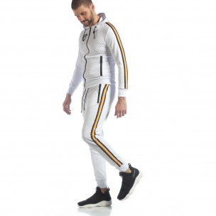 Set sportiv alb 5 striped pentru bărbați