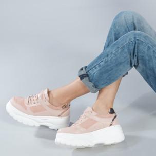 Pantofi sport Chunky roz de dama