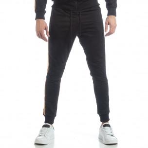 Pantaloni de trening 5 striped negri pentru bărbați   2