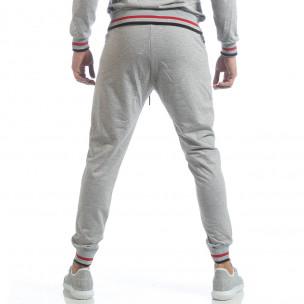 Pantaloni sport de bărbați gri cu accente  2