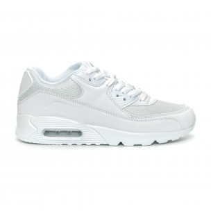 Pantofi sport de dama albi cu pernă de aer
