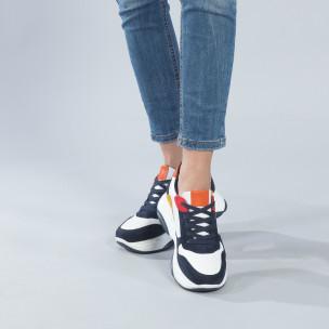 Pantofi sport de dama multicolori cu talpă înaltă