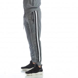 Pantaloni sport de bărbați Biker gri