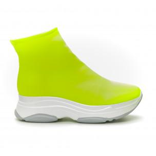 Pantofi sport Slip-on neon pentru dama 2