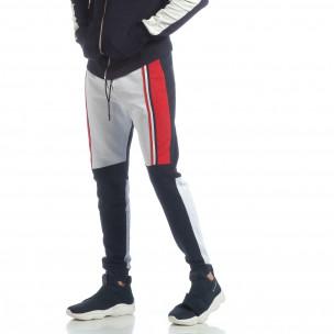 Pantaloni de trening în trei culori pentru bărbați