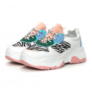 Pantofi sport de dama Chunky cu motiv zebră 2