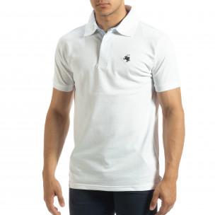 Polo shirt alb pentru bărbați