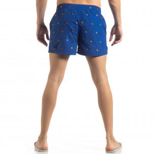Costum de baie albastru deschis pentru bărbați motiv Ladybug 2