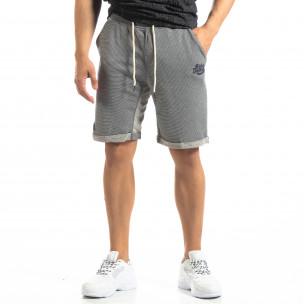 Pantaloni sport scurți albaștri cu dungi de bărbați