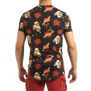 Tricou pentru bărbați negru Skull Love 2
