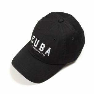 Șapcă neagră Cuba