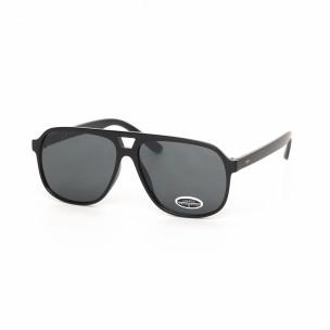 Ochelari de soare negri formă trapezoidală
