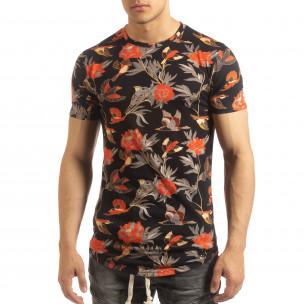 Tricou cu motive exotice pentru bărbați