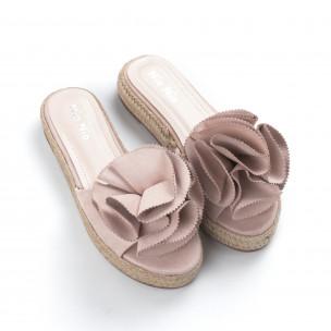 Papuci de dama bej tip espadrile 2