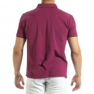 Tricou polo shirt roșu pentru bărbați  2