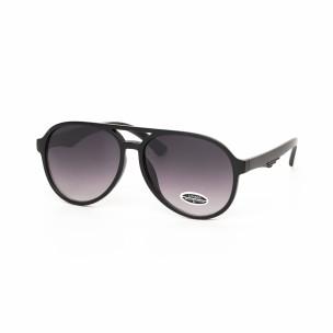 Ochelari de soare Aviator cu rama neagră