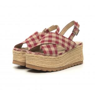 Sandale de dama Rustic style cu platformă 2