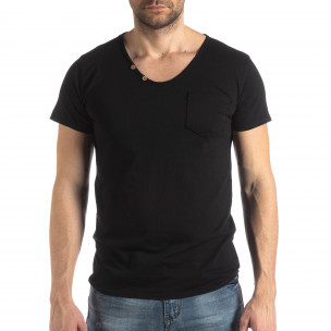 Tricou bărbați Ricky Rich negru