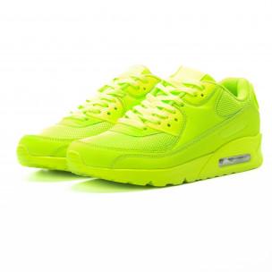 Adidași pentru bărbați în verde neon cu perna de aer  2