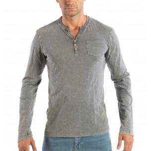 Bluză gri pentru bărbați House cu nasturi