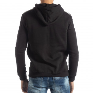 Hanorac negru matlasat ICONS pentru bărbați  2