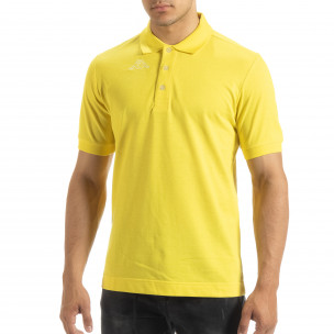 Polo shirt galben de bărbați Kappa regular fit Kappa 2