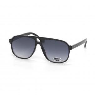 Ochelari de soare formă trapezoidală cu lențile negre