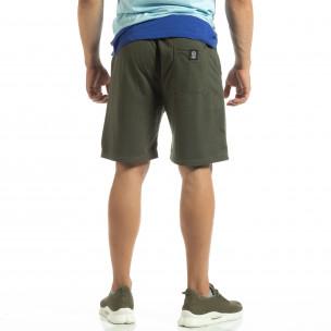 Șort din tricot verde pentru bărbați 2