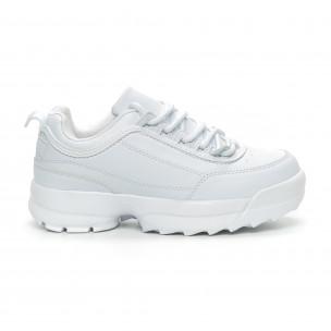 Pantofi sport albi Chunky pentru dama