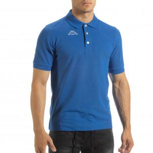 Polo shirt albastru de bărbați Kappa regular fit