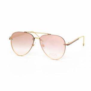 Ochelari de soare Aviator cu lențile roz tip oglindă See vision