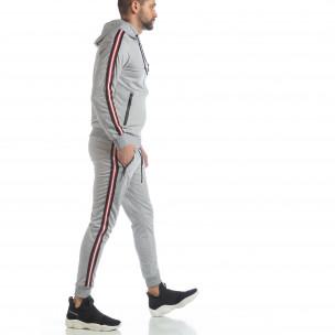 Set sportiv gri 5 striped pentru bărbați 2