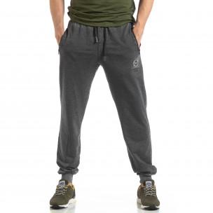 Pantaloni de trening gri cu efect șifonat de bărbați